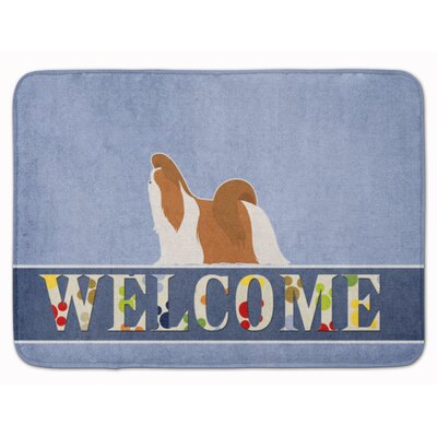 Shih Tzu Welcome Memory Foam Bath Rug