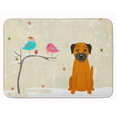 Christmas Presents Border Terrier Memory Foam Bath Rug