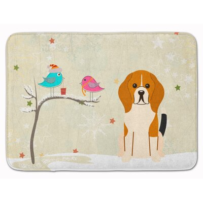 Christmas Presents Beagle Memory Foam Bath Rug