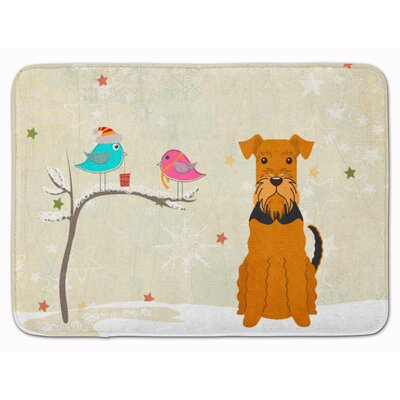 Christmas Presents Friends Airedale Memory Foam Bath Rug