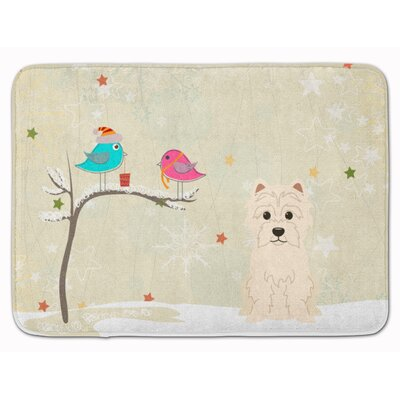 Christmas Presents Friends Westie Memory Foam Bath Rug