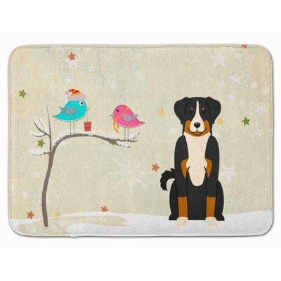 Christmas Appenzeller Sennenhund Memory Foam Bath Rug