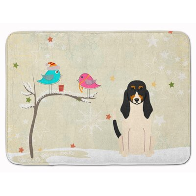 Christmas Presents Friends Swiss Hound Memory Foam Bath Rug