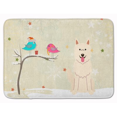 Christmas German Shepherd Memory Foam Bath Rug