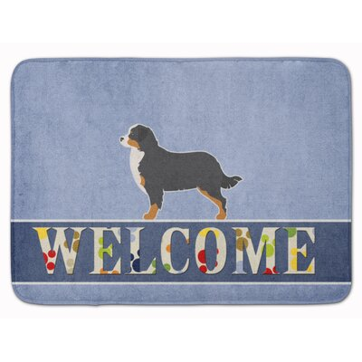 Bernese Mountain Dog Welcome Memory Foam Bath Rug