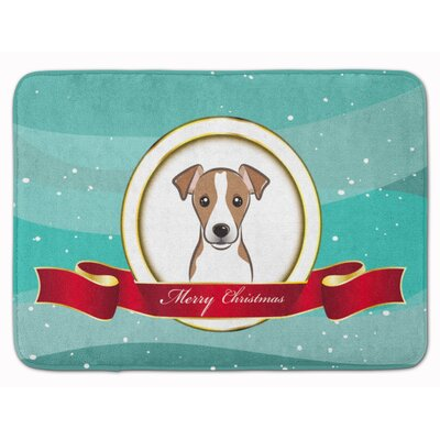Jack Russell Terrier Merry Christmas Memory Foam Bath Rug Color: Brown