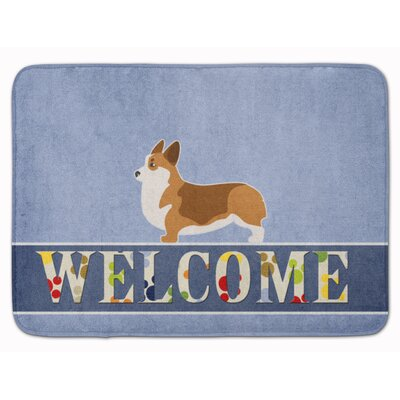 Corgi Welcome Memory Foam Bath Rug