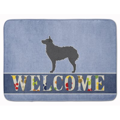 Croatian Sheepdog Welcome Memory Foam Bath Rug