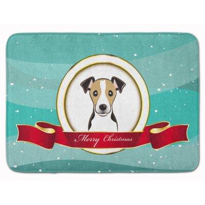 Jack Russell Terrier Merry Christmas Memory Foam Bath Rug Color: Dark Brown