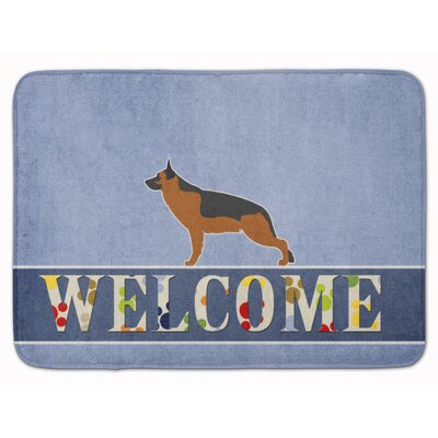 German Shepherd Welcome Memory Foam Bath Rug