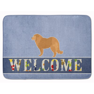 Caucasian Shepherd Dog Welcome Memory Foam Bath Rug