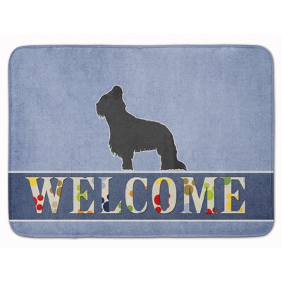 Briard Welcome Memory Foam Bath Rug