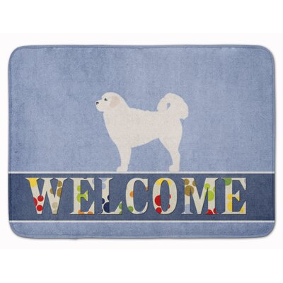 Polish Tatra Sheepdog Welcome Memory Foam Bath Rug