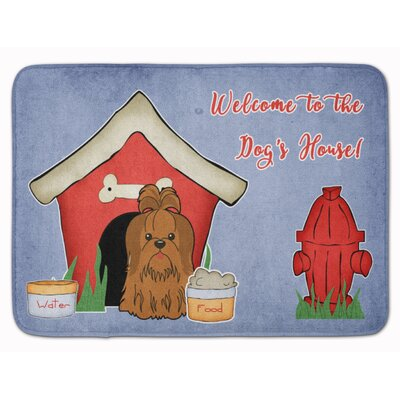 Dog House Shih Tzu Memory Foam Bath Rug Color: Silver/Chocolate