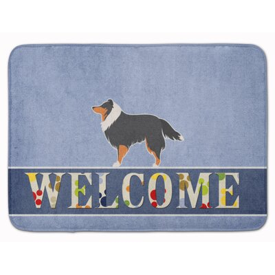 Sheltie/Shetland Sheepdog Welcome Memory Foam Bath Rug