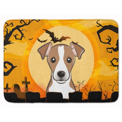 Testa Jack Russell Terrier Memory Foam Bath Rug Color: Cream/White