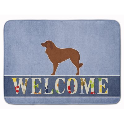 Portuguese Sheepdog Welcome Memory Foam Bath Rug