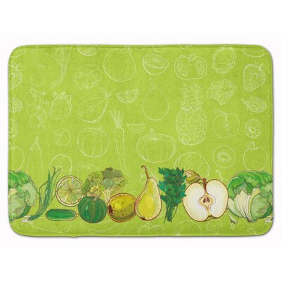 Fruits and Vegetables Memory Foam Bath Rug