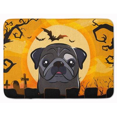 Halloween Pug Memory Foam Bath Rug