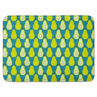Donohoe Pears Memory Foam Bath Rug Color: Green