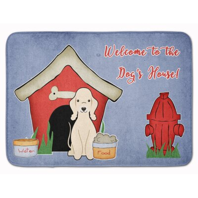 Dog House Bedlington Terrier Memory Foam Bath Rug Color: Sandy