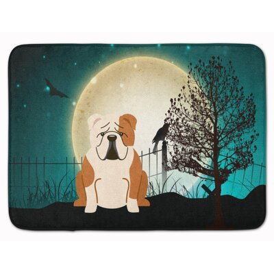 Halloween�English Bulldog Fawn Memory Foam Bath Rug