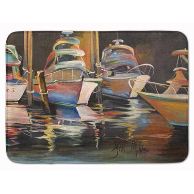 Deep Sea Chase Fishing Boats Memory Foam Bath Rug