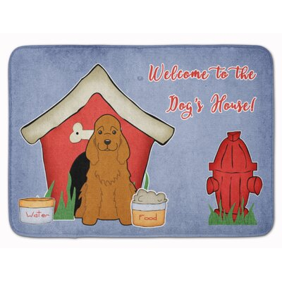Dog House Cocker Spaniel Memory Foam Bath Rug Color: Red