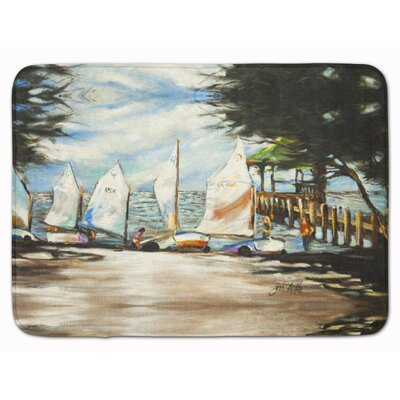 Sailboat Sailing Lessons Memory Foam Bath Rug