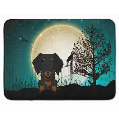 Halloween Wire Hair Dachshund Memory Foam Bath Rug