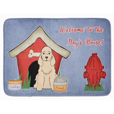 Dog House Cocker Spaniel Memory Foam Bath Rug Color: Spaniel