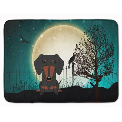 Testa Scary Dachshund Memory Foam Bath Rug Color: Black/Tan