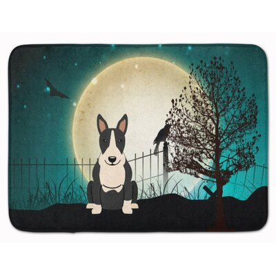 Halloween Bull Terrier Memory Foam Bath Rug