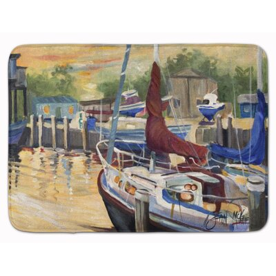 Lissette Sunset Bay Sailboat Memory Foam Bath Rug