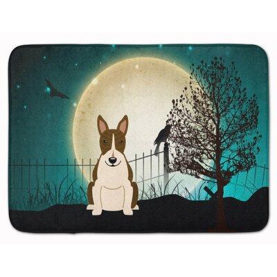 Halloween Bull Terrier Dark Brindle Memory Foam Bath Rug