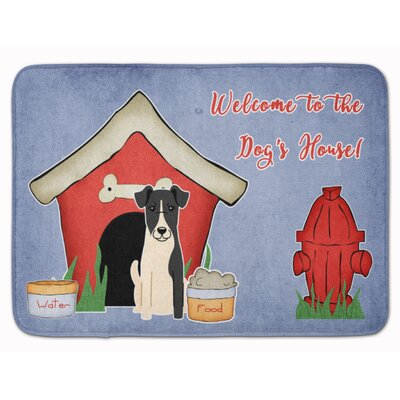 Dog House Smooth Fox Terrier Memory Foam Bath Rug