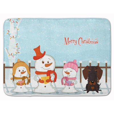 Christmas Wire Hair Dachshund Memory Foam Bath Rug