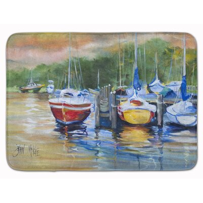 Sailboat Up the Creek Memory Foam Bath Rug
