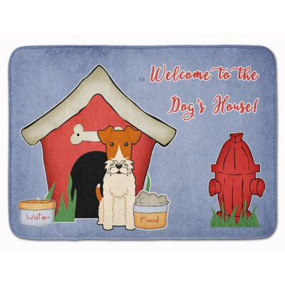 Dog House Wire Fox Terrier Memory Foam Bath Rug