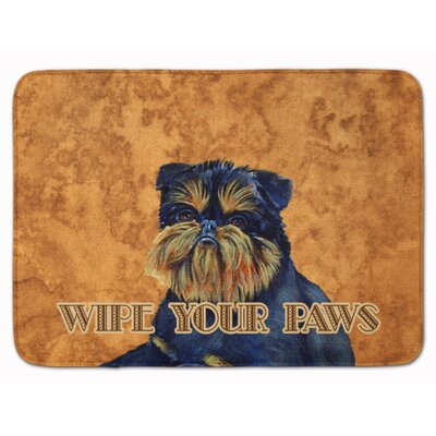 Brussels Griffon Wipe Your Paws Memory Foam Bath Rug