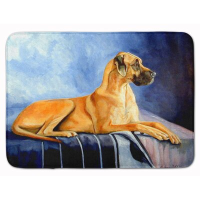 Natural Fawn Great Dane Memory Foam Bath Rug