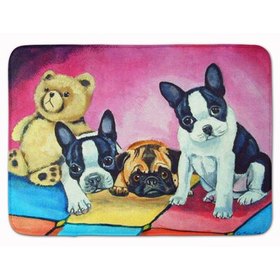 Multiple Breeds Memory Foam Bath Rug