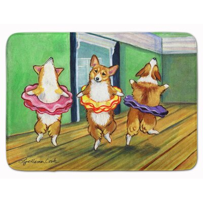 Corgi Little Ballerina Memory Foam Bath Rug