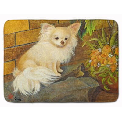 Chihuahua Just Basking Memory Foam Bath Rug