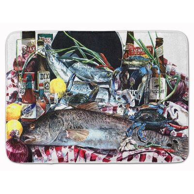 Fish and Beers from New Orleans Memory Foam Bath Rug