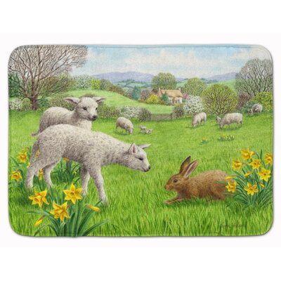 Rarden Lambs, Sheep and Rabbit Hare Memory Foam Bath Rug