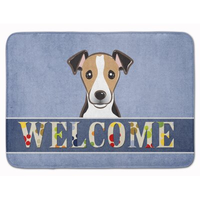 Keston Jack Russell Terrier Welcome Memory Foam Bath Rug Color: Brown