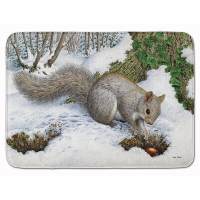 Earle Squirrel Memory Foam Bath Rug