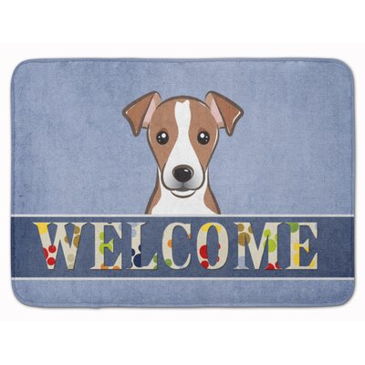 Keston Jack Russell Terrier Welcome Memory Foam Bath Rug Color: Dark Brown