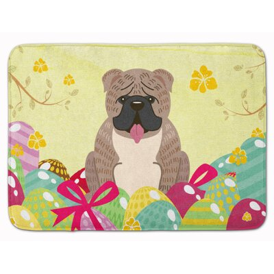 Easter English Grey Bulldog Brindle Memory Foam Bath Rug